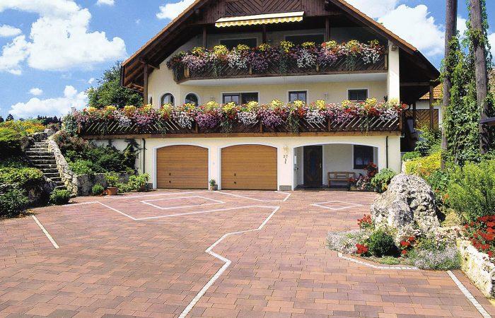 Gartenidee mit Pflastersteinen