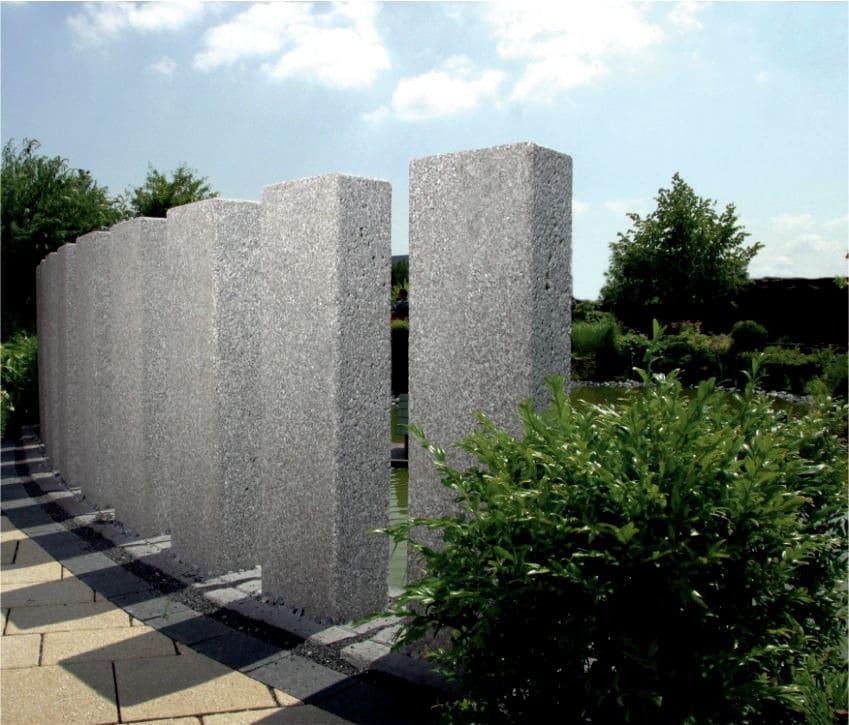 gartengestaltung mit beton wand