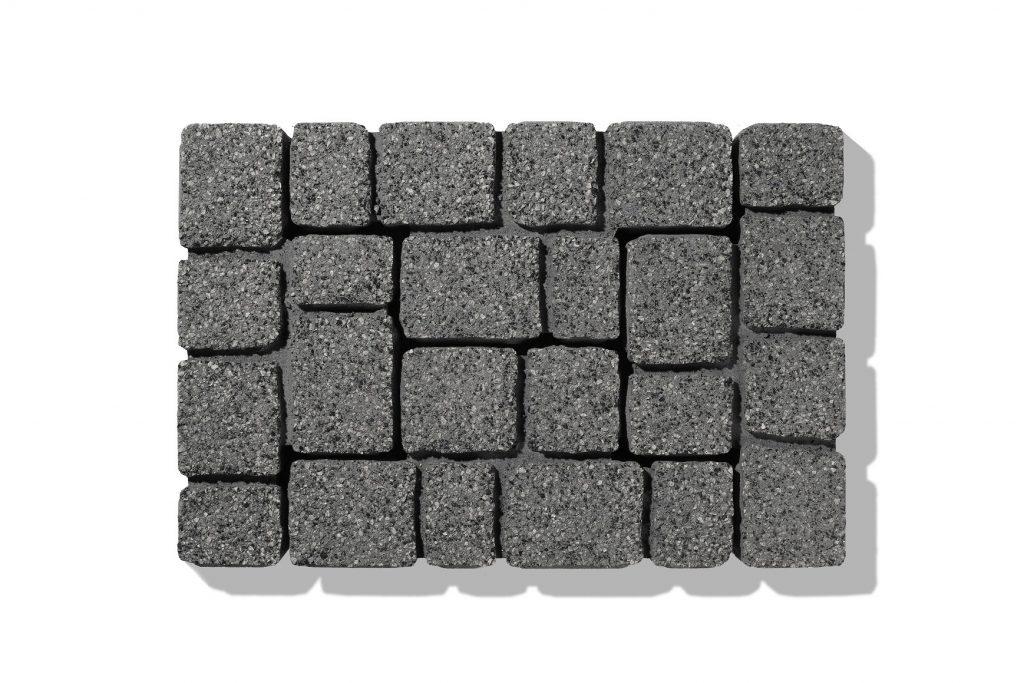 cube zum pflastern in basalt-anthrazit