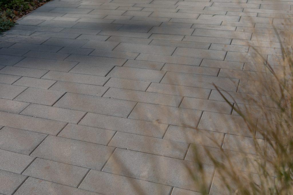 detailaufnahme pflastersteine beton
