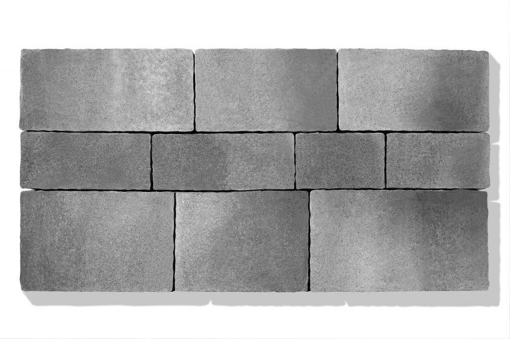 pflastersteine garten grau anthrazit steinsystem