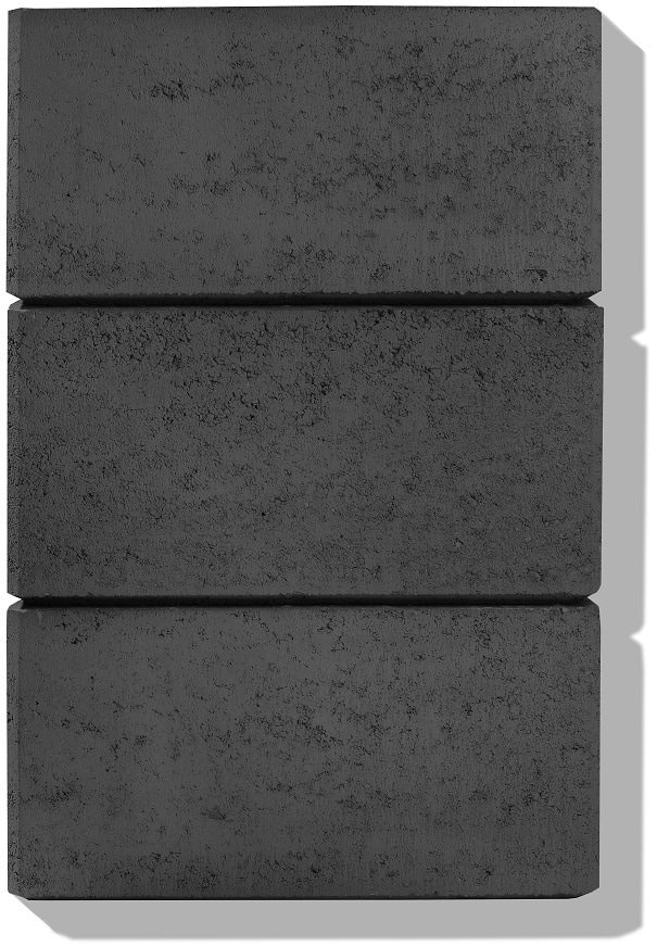 detail farbe anthrazit- hohlsteine für gartenmauer