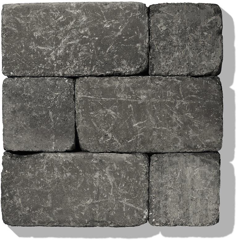 stein für gartenmauer farbe anthrazit