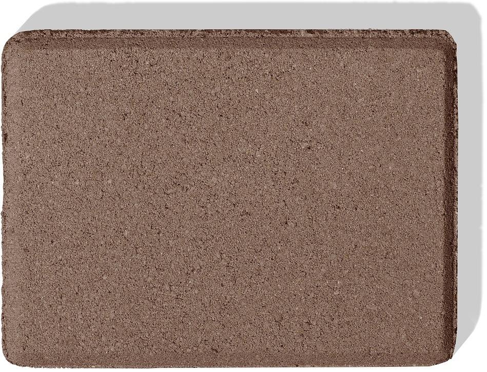 palisade aus beton farbe braun als muster