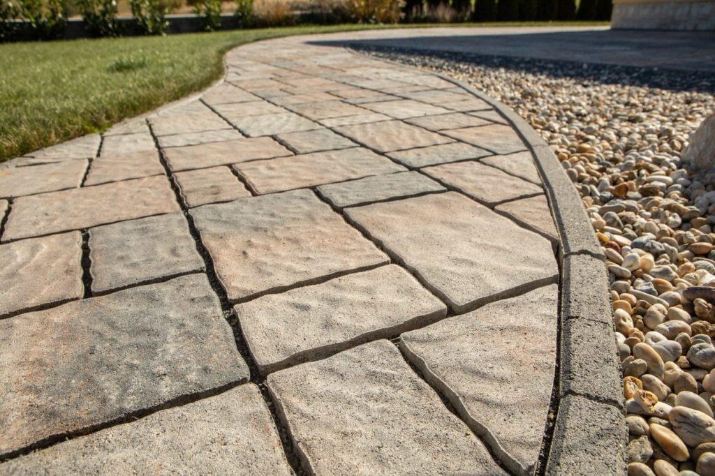 steine terrasse detail aufnahme