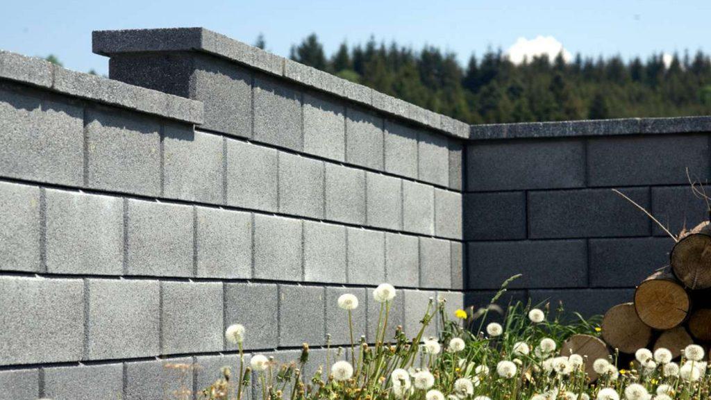 innenansicht gartenmauer mit city steinen