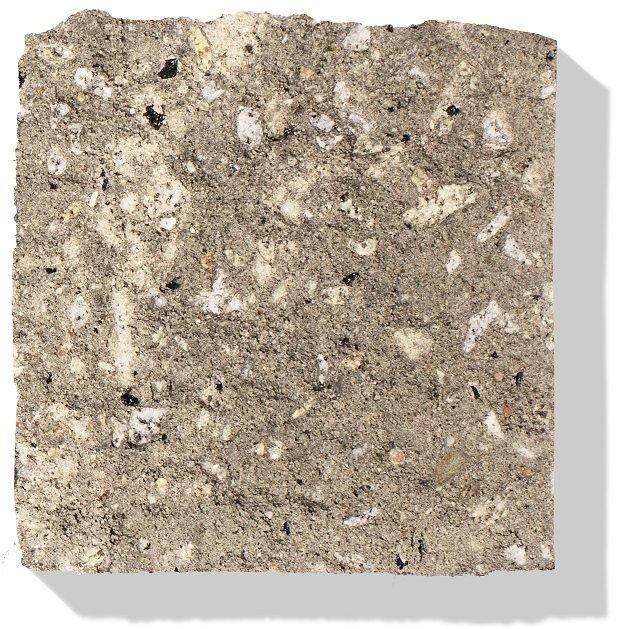 betonstein in farbe grau-weiss