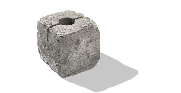 stein für gartenmauer halbstein