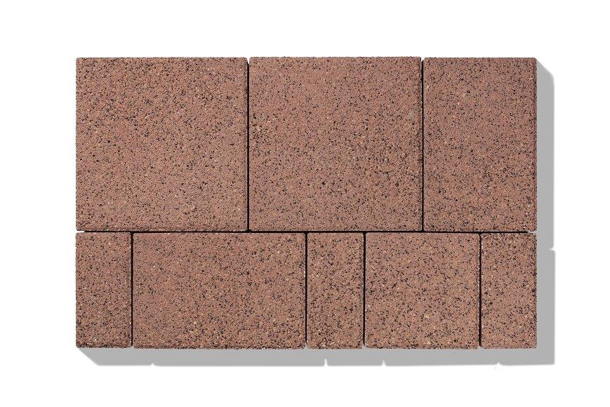 betonpflastersteine braun lava