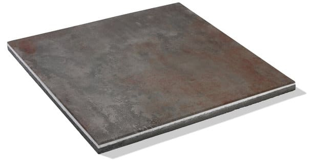 rötliche Terrassenplatte mit der abmessung 60x60 cm